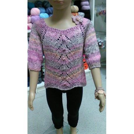 ADELA kislány pulóver mintaleírása
