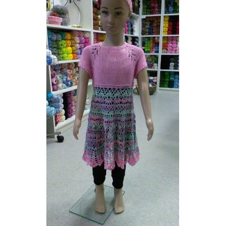 Babita kötött/horgolt lányka ruha mintaleírása