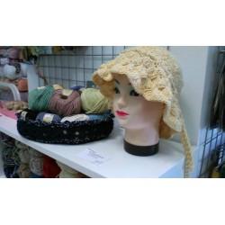 Legyező mintás női kalap