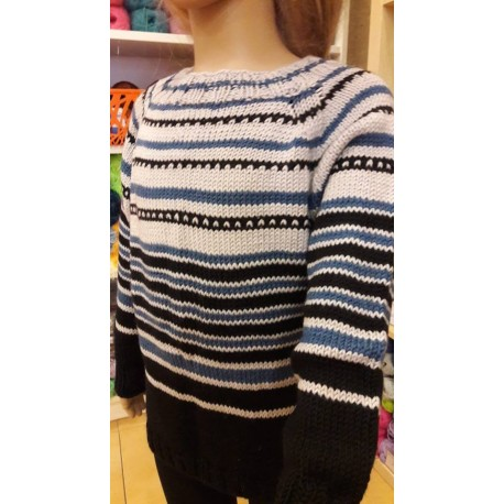 Striped gyermek pulóver