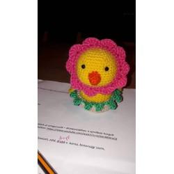 Funny chick/flower (horgolt csibe/virág)