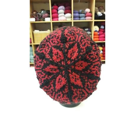 Généroux női barett sapka, fair isle mintával