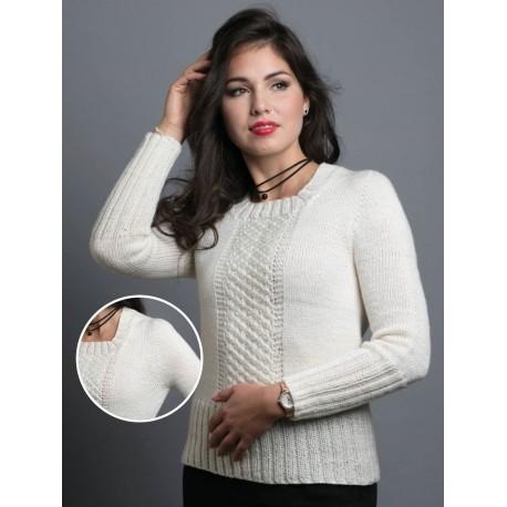 Cinna kötött női pulóver mintaleírása