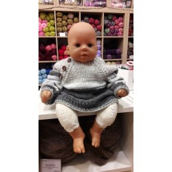 GreyBlue kötött kisfiú pulóver és kardigán szett