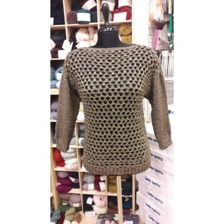 Cinquefoil kötött női pulóver