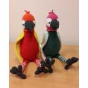 Kira és Kipu, horgolt papagájok