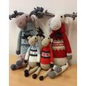 Szarvasok karácsonyi mintás pulcsiban