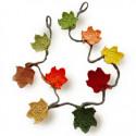 Őszi girland, színes levelekből