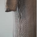 Tulipános mintával kötött női pulóver