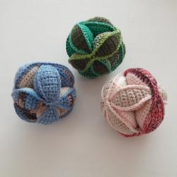 Horgolt puzzle labdák, szett