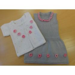 Amy kardigán és lányka ruha mintaleírása