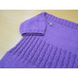 Edina csónaknyakú lányka ruha mintaleírása