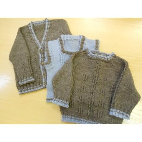 Kende fiú pulóver és mellény mintaleírása